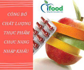 công bố thực phẩm chức năng nhập khẩu