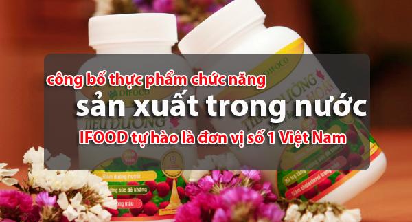 cong bo thuc pham chuc nang san xuat trong nuoc