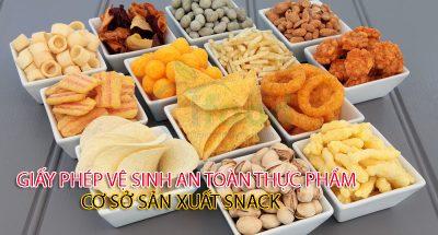 xin giấy phép vệ sinh an toàn thực phẩm cơ sở sản xuất snack