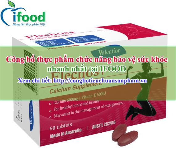 Công bố thực phẩm chức năng bảo vệ sức khỏe