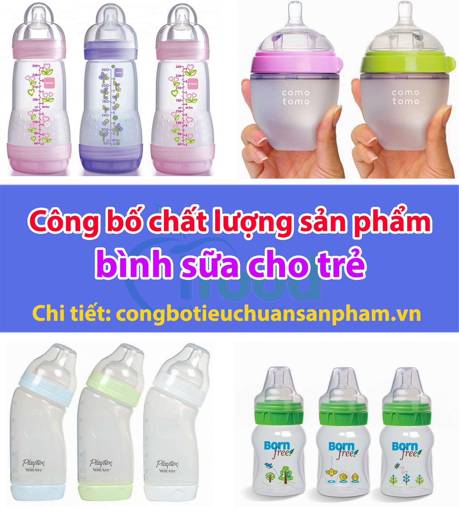 Công bố chất lượng sản phẩm bình sữa cho trẻ