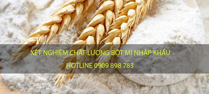 xét nghiệm bột mì nhập khẩu