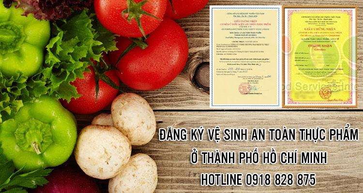 Hướng dẫn đăng ký vệ sinh an toàn thực phẩm tại tphcm
